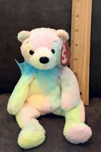Mellow TY Beanie Baby Pot-Belly Teddy Bear Pastel Tie-Dye December 7 2000 MWMT - $3.99