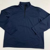 Timberland 1/4 Zip Up Pullover Jacket Mens XL/XG Blue Mock Neck Long Sleeve - $18.95
