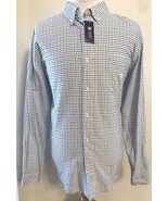 Chaps Shirt XXL Check Blue TTG EEG 2XL Long Sleeve Button Collar Down NWT - $19.75