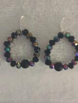 Handcrafted Multi-Color Beaded Hoop Earrings - $9.00