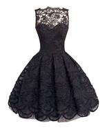 Summer sleeveless audrey hepburn vintage style club lace hollow midi swing dress2 thumbtall
