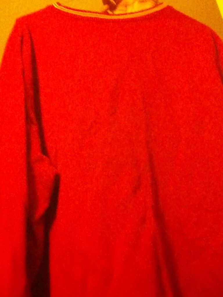 2 Old Navy LARGE XL vest BEIGE sweater red BLUE WHITE 2 zippered pockets