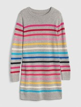 GAP Kids Girls Crazy Striped Heather Gray Long Sleeve Crew Neck Sweater ... - $34.60