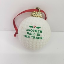 Golf Ball Christmas Tree Ornament Another Ball Stuck In The Trees Golfing - $13.99