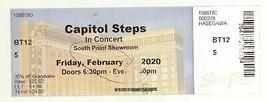 Rare CAPITOL STEPS 2/28/20 Las Vegas NV South Point Showroom Ticket! - $2.99