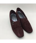 Karen Scott Soft Step Heels Riley Burgundy Suede Slip On Pumps, Size 6.5 - $10.89