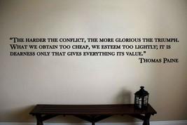 Thomas Paine Inspirational Teacher Classroom Quote Vinyl Sticker Decal  - $14.99+