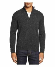 The Mens Store Bloomingdales Donegal Half Zip Sweater 2XL Gray Cashmere ret - $28.98