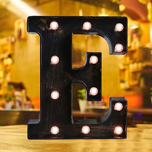 Industrial Style Light Up Letters: Golden Led Marquee Letter E