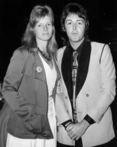 Paul Mccartney With Linda West End London 1974 16X20 Canvas Giclee - $69.99