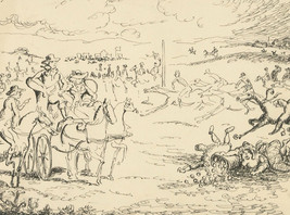 Harold Hope Read (1881-1959) - Pen and Ink Drawing, Military Scene - $76.98