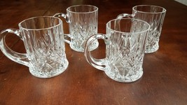 Beautiful Chantilly Taille Beaugency Style Mugs 4 Crystal Glass Clear Mug - $16.82