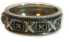 Vintage Sterling Silver Roman Numeral Ring Size... - $21.73