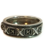 Vintage Sterling Silver Roman Numeral Ring Size 6.5 - $21.29