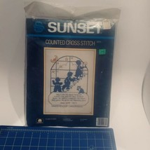 Sunset Counted Cross Stitch To Bed To Bed #2975 1985 Lorna McRoden Kit B... - $22.06