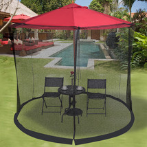 Outdoor 9/10 FT Umbrella Table Screen Mosquito Bug Insect - $59.56