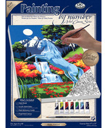 """Paint By Number Kit Artist Canvas Series 9""""X12""""-Unicorn - $15.83"""