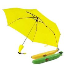 1Pcs Yellow Banana Mini Pocket Umbrella Fruit Parasol Dual Use Sunny And... - $31.80