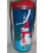 Starbucks Mug Travel Tumbler 8 oz Hologram Christmas Snowman 2004 - $12.99