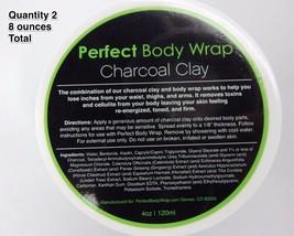 2 Tiegel mit Entgiftung Holzkohle Ton Körper-wärmeumschlag 118ml Cellulite Detox