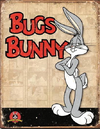 Primary image for Bugs Bunny Figure Retro Panels Art Vintage Weathered Tin Sign Poster NEW UNUSED