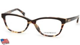New Emporio Armani Ea 3015F 5107 Tortoise Brown Eyeglasses Frame 53-17-140 B37mm - $44.09