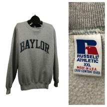 1980s Baylor Sweatshirt / 80s Retro V Stitch Russell Cotton Sweatshirt U... - $69.00