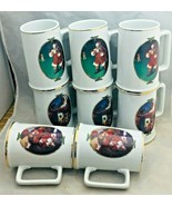 "Coca Cola 8 Christmas 1996 Collector edition Beer mugs Stein 4 ½"" porcelain - $39.59"