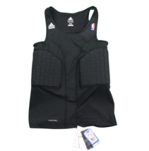 New Adidas NBA Authentics Techfit Padded Team Issued Tank Top Jersey Bla... - $39.55