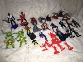 Mixed Super Hero Action Figure Lot Of 36 Marvel Ninjas Turtles Power Ranger WWE image 12