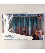 Disney Frozen II-5 Flavored Lip Glosses-Vanilla Berries-Olaf Anna Elsa  EB3 - $11.50
