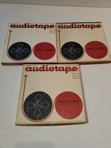 "3 AUDIOTAPE Type 2431T Three Reels 2400 Ft Tape Formula 10 7"" Reel to Re... - $24.75"