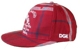 DGK Burgundy Red Plaid For Those Who Come From Nothing Snapback Baseball Hat Cap image 2
