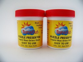 Jigsaw Puzzle Preserver Glue Non-Toxic With Applicator Brush (2 pk) 8 oz Total - $15.89