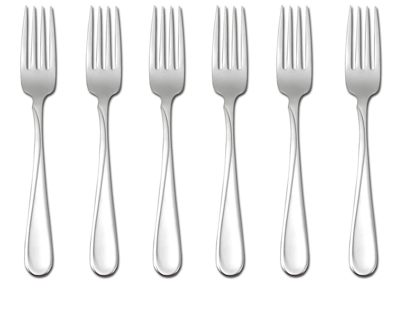Oneida Flight Dinner Forks, Set of 6