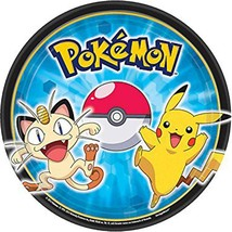 Pokemon Pikachu & Friends Dessert Plates 8 Per Package Birthday Party Su... - $4.06