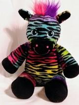 Build A Bear Rainbow Zebra Wild Style Stuffed Plush Toy 17 Inch Retired... - $15.67