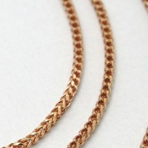 18K ROSE GOLD CHAIN 1.2 MM SQUARE FRANCO LINK, 17.7 INCHES, 45 CM MADE IN ITALY  image 2