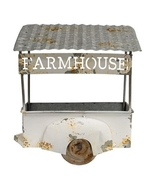 Galvanized Metal Wagon Wall Display Rusty Roof Landscape Gifts Farmhouse  - $59.99