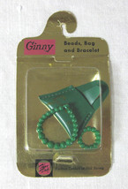 1950s Vogue Ginny Doll Beads, Bag, and Bracelet Mint on Card - $30.00