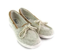Keds Women Gray Fabric Lace Up Shoe Size 5.5 M Casual Comfort - $19.79