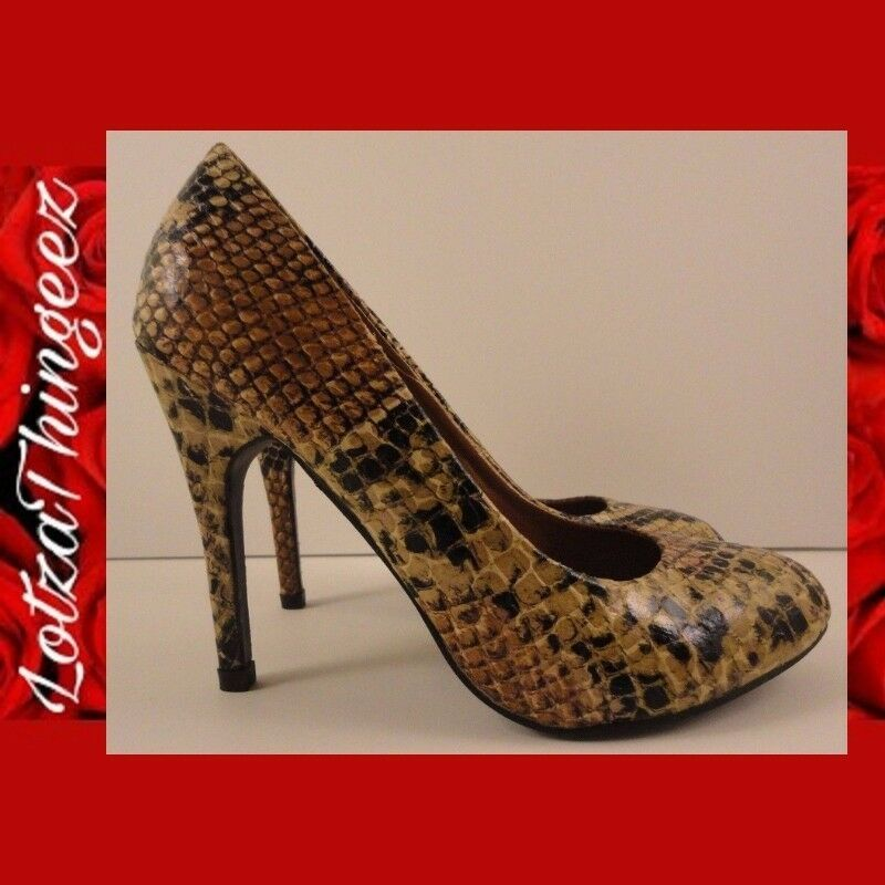 NWOB Design by Jacobies Sz 6 Chance-1 Faux Alligator Snakeskin Heels