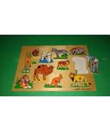 Simplex Wooden Peg Puzzle  - Zoo Animals  11 pieces - $10.89