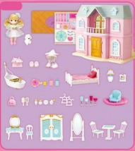 Mimi World Let's Play in a Two story House Dollhouse Doll Role Play Toy Set image 2