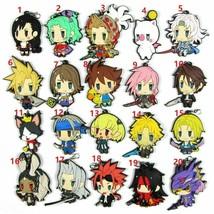 FINAL FANTASY Rubber Strap Charm Keychain Keyring Kingdom Hearts Sora An... - $3.55+