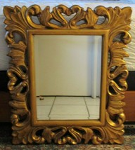 NEW Ornate Baroque Carved Style Gold Framed Rectangle Bevelled Mirror 29... - $247.50