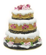 Wedding Cake Jeweled Trinket Box with SWAROVSKI Crystals - $39.95