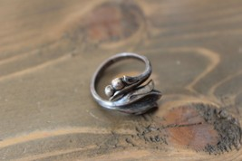 Sterling Silver - AVON Tulip Flower Ring Size 8 image 2