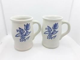 Set of 2 Vintage Pfaltzgraff Yorktowne Tulip 282Y Barrel Mugs - $14.03