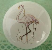 Cabinet Knob domestic bird Flamingo @Pretty@ - $5.25